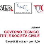 Governo tecnico, partiti e società civile-atti del convegno del 29.03.2012